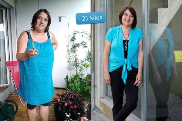 Notre membre Anita après sa perte de 21 kilos